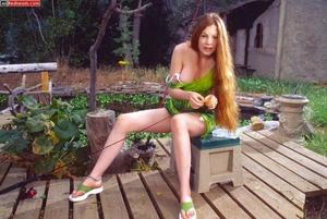 Sexy redhead. Hottie Redhead Coed Fishes - XXX Dessert - Picture 2