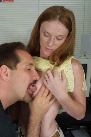 Horny redhead. Redhead Coed Gives Tech G - XXX Dessert - Picture 10