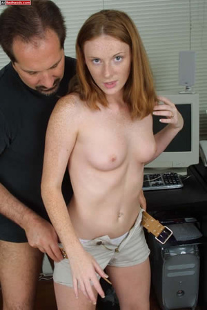 Horny redhead. Redhead Coed Gives Tech G - XXX Dessert - Picture 13