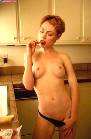 Hot redhead. Real Redhead covered in tom - XXX Dessert - Picture 4
