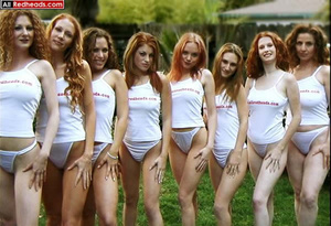 Hot redhead. 8 Natural Redhead fondling  - XXX Dessert - Picture 7