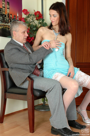 Old and young. Lean girl having her old  - XXX Dessert - Picture 6