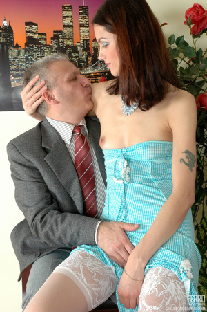 Old and young. Lean girl having her old  - XXX Dessert - Picture 7