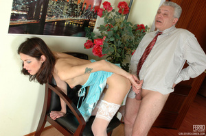 Old and young. Lean girl having her old  - XXX Dessert - Picture 20