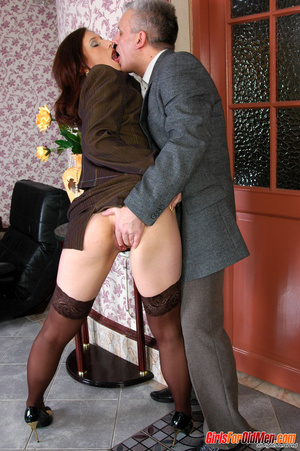 Young old xxx. Pretty office girl gettin - XXX Dessert - Picture 9