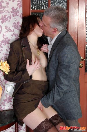 Old & young sex. Pretty office girl  - XXX Dessert - Picture 8