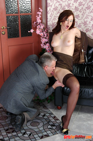 Old & young sex. Pretty office girl  - XXX Dessert - Picture 13