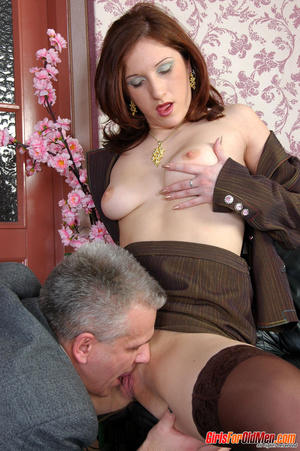 Old & young sex. Pretty office girl  - XXX Dessert - Picture 14
