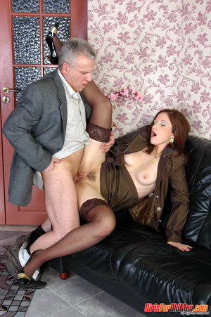Old & young sex. Pretty office girl  - XXX Dessert - Picture 16