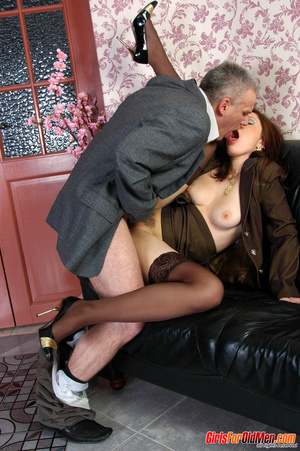 Old & young sex. Pretty office girl  - XXX Dessert - Picture 17