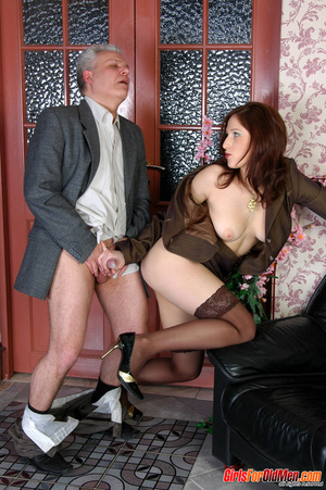 Old & young sex. Pretty office girl  - XXX Dessert - Picture 19