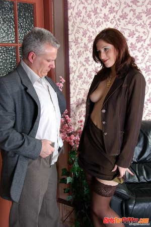 Old & young sex. Pretty office girl  - XXX Dessert - Picture 20