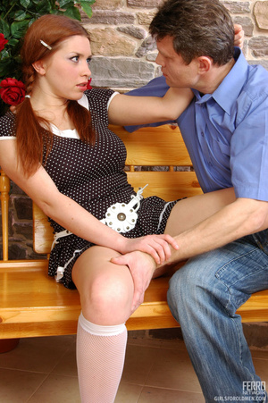 Old young sex. Pigtailed redhead in a sk - XXX Dessert - Picture 4