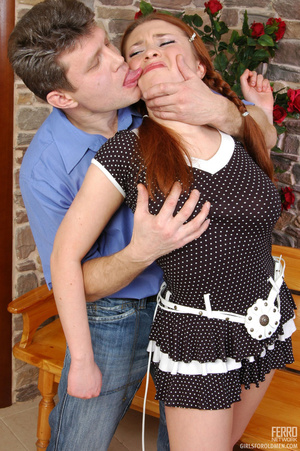 Old young sex. Pigtailed redhead in a sk - XXX Dessert - Picture 5