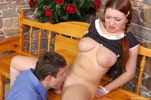 Old young sex. Pigtailed redhead in a sk - XXX Dessert - Picture 10
