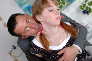 Old young sex. Cute ponytailed girl caug - XXX Dessert - Picture 9