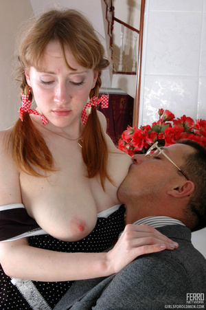 Old young sex. Cute ponytailed girl caug - XXX Dessert - Picture 12
