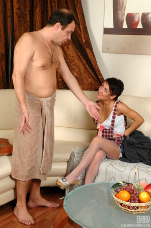 Young old sex. Mischievous gal sneaking  - XXX Dessert - Picture 5