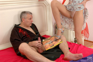 Old & young sex. Slim girl opening h - XXX Dessert - Picture 5
