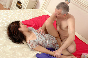 Old & young sex. Slim girl opening h - XXX Dessert - Picture 13