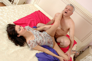 Old & young sex. Slim girl opening h - XXX Dessert - Picture 14