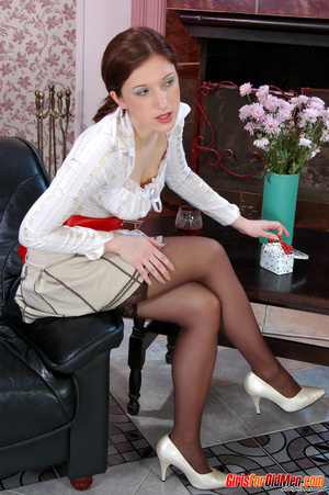 Old young. Curious girl caught sneaking  - XXX Dessert - Picture 3