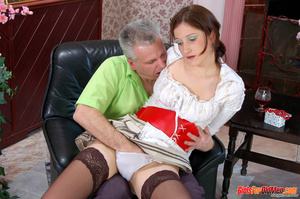 Old young. Curious girl caught sneaking  - XXX Dessert - Picture 9