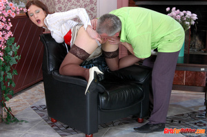 Old young. Curious girl caught sneaking  - XXX Dessert - Picture 12