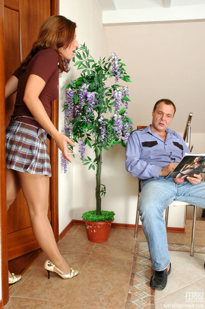 Old young love. Flirtatious gal in flyin - XXX Dessert - Picture 2
