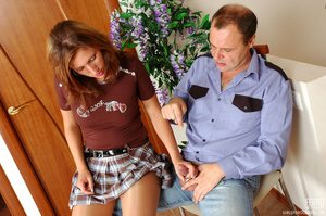 Old young love. Flirtatious gal in flyin - XXX Dessert - Picture 6