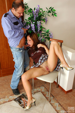 Old young love. Flirtatious gal in flyin - XXX Dessert - Picture 12