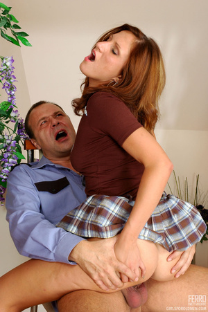 Old young love. Flirtatious gal in flyin - XXX Dessert - Picture 18