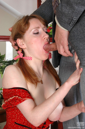 Old having sex with young. Pigtailed gir - XXX Dessert - Picture 15