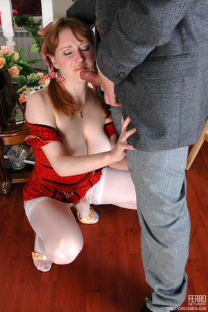 Old and young. Pigtailed girlie getting  - XXX Dessert - Picture 14