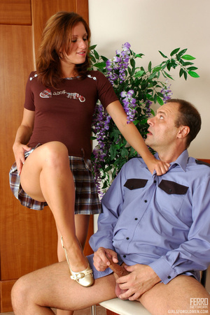 Old men fucking young girls. Flirtatious - XXX Dessert - Picture 16