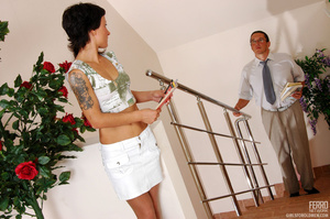 Older man young women sex. Sexy coed pas - XXX Dessert - Picture 1