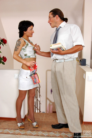 Older man young women sex. Sexy coed pas - XXX Dessert - Picture 3
