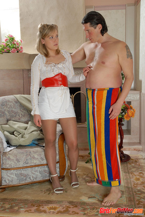 Old and young. Young maid caught trying  - XXX Dessert - Picture 4