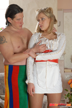 Old and young. Young maid caught trying  - XXX Dessert - Picture 5