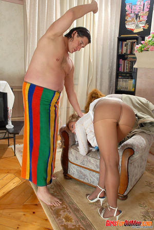 Old and young. Young maid caught trying  - XXX Dessert - Picture 8