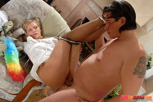 Old and young. Young maid caught trying  - XXX Dessert - Picture 14