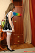Young & old sex. Young sexy French maid forced to suck off and open