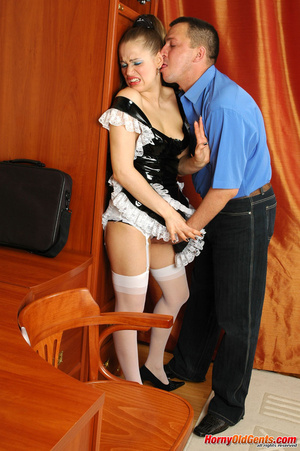 French maid forced sex