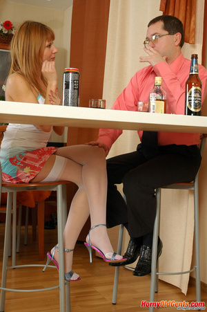 Young old sex. Naughty lass in too short - XXX Dessert - Picture 1