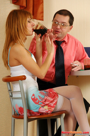 Young old sex. Naughty lass in too short - XXX Dessert - Picture 2