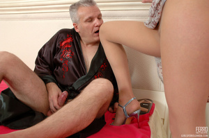 Old man young girl. Slim girl opening he - XXX Dessert - Picture 5