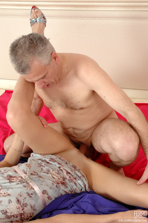 Old man young girl. Slim girl opening he - XXX Dessert - Picture 14