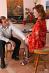 Old young sex. Upskirt teaser unbuttons her blouse making oldie give her
