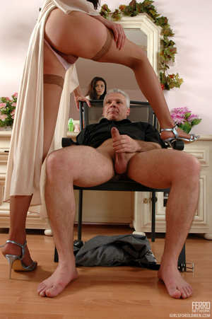Young old sex. Leggy girl luring her gre - XXX Dessert - Picture 15