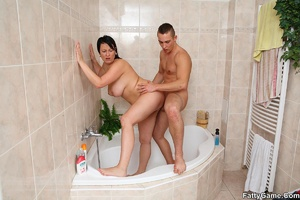 Fat women. He comes in on her as she tak - XXX Dessert - Picture 13